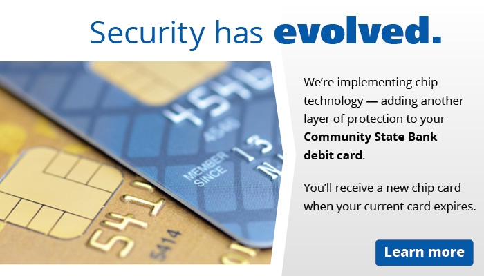 Community State Bank web ad security